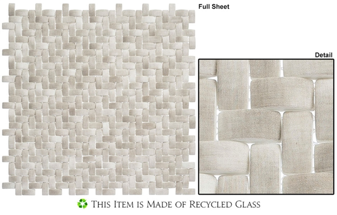 summer outing smo322 koala basketweave raised 3d relief recycled glass mosaic