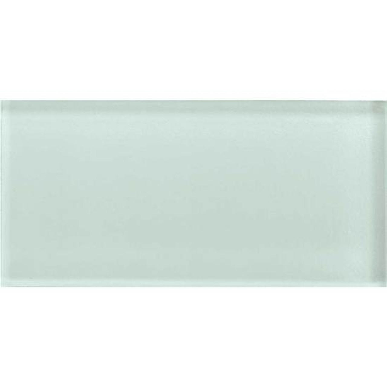american olean color appeal glass c107 vintage mint 3x6 brick subway glass tile glossy