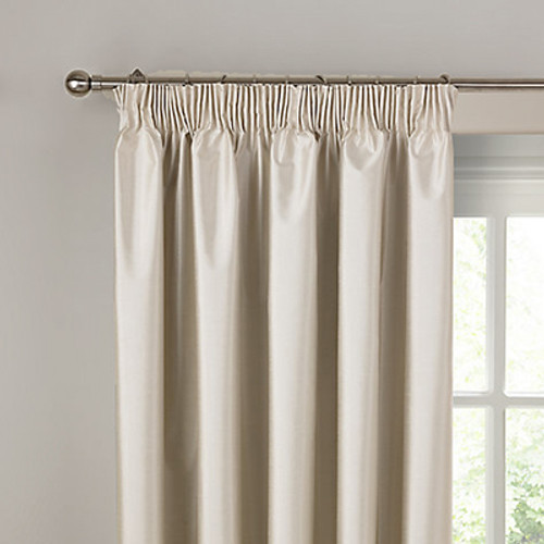 villa curtain made to measure textured shantung blockout ivory off white