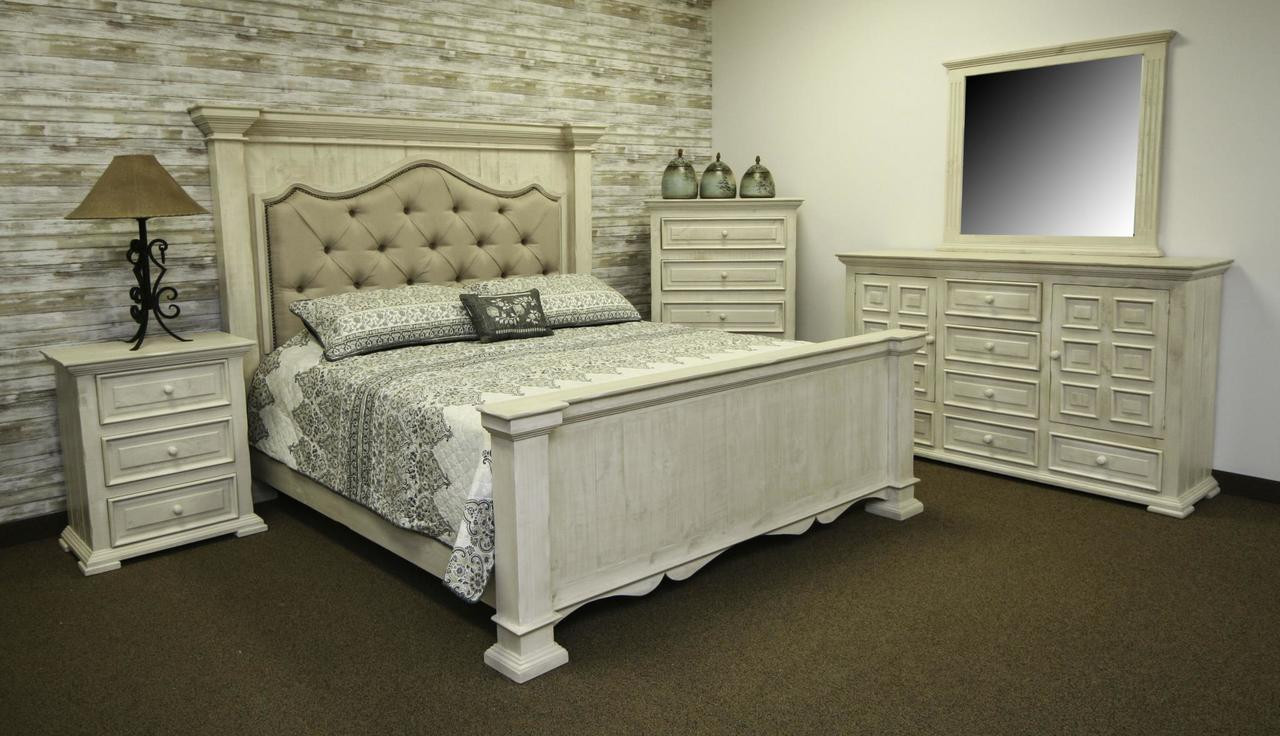The Terra White Upholstered Bed Queen Available At Select Furnishings Serving Brenham Tx And Surrounding Areas