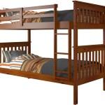 Derik Medium Brown Twin Bunk Bed Cb Furniture