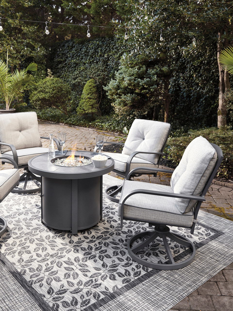 mestina 3 piece fire pit patio set