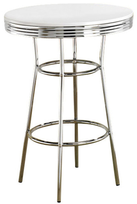 bel air wide white bar table cb furniture bel air wide white bar
