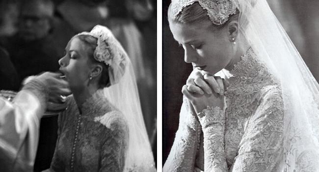 Grace Kelly wedding day