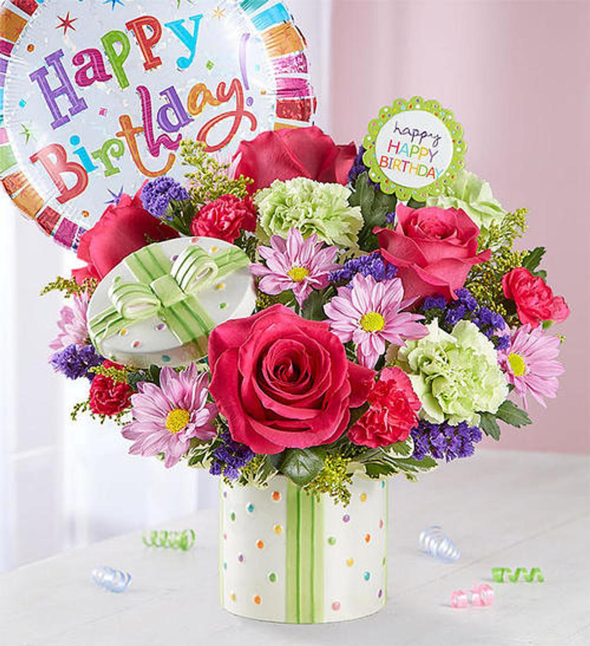 Chicago Happy Birthday Present Bouquet