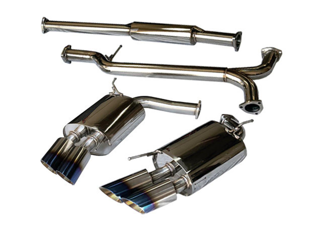 tsudo acura 2007 08 tl type s se titanium quad tips catback exhaust