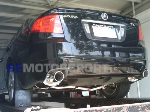 tsudo acura 04 08 tl dual sp muffler catback exhaust