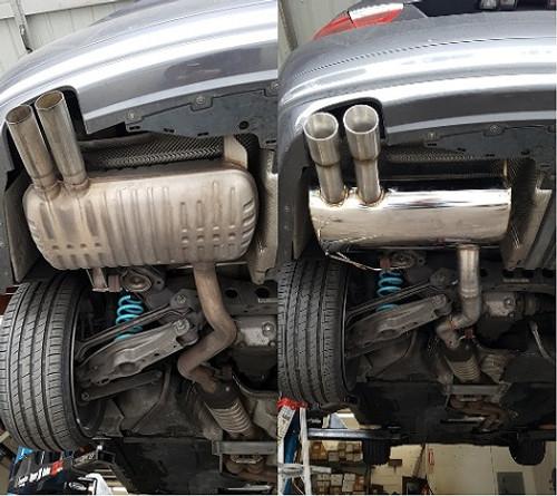 tsudo bmw e90 e92 328i 328ix 07 11 rolled tips axle back exhaust