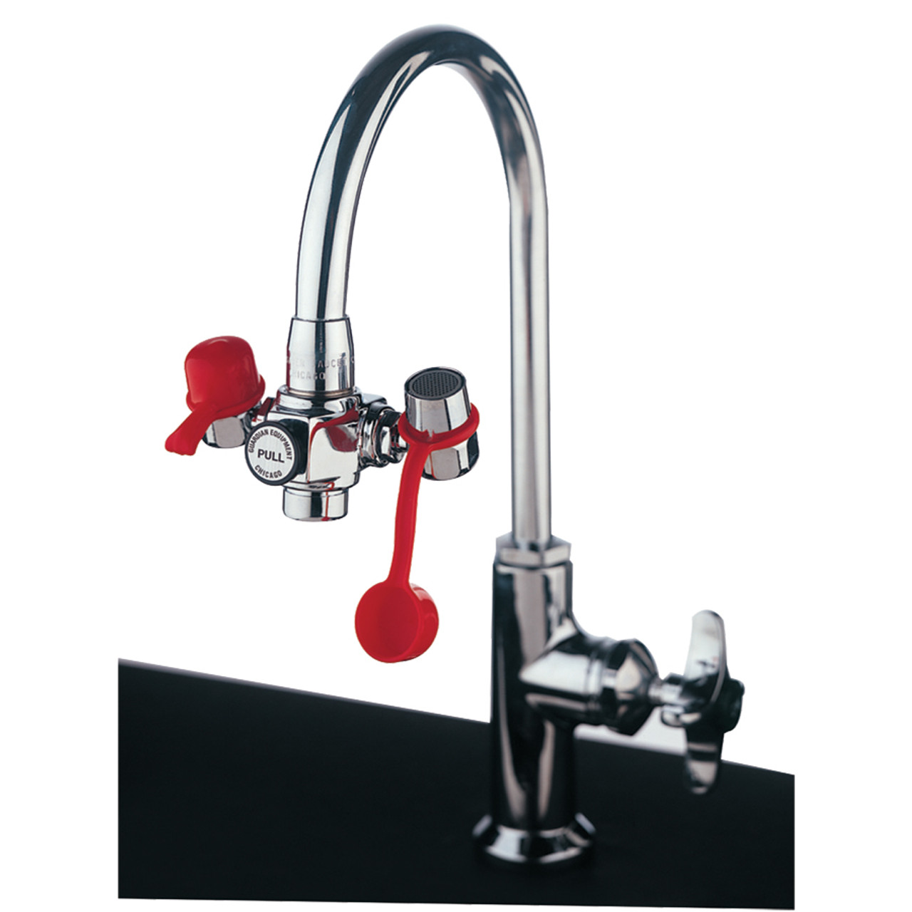guardian g1100 faucet mounted eyewash with adjustable outlet heads