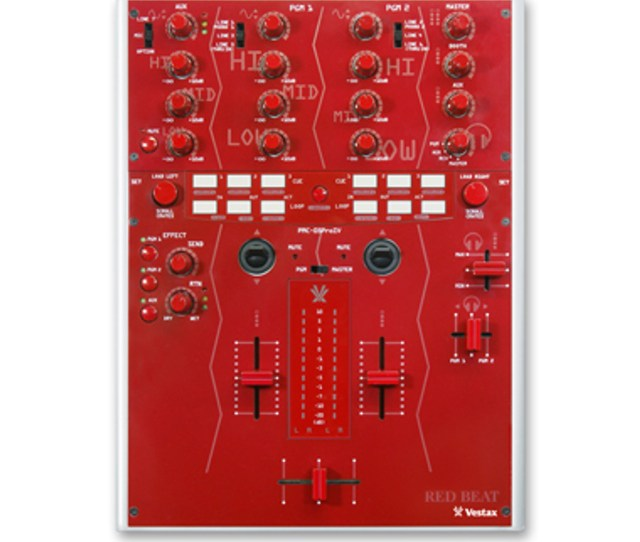 Vestax Pmc 05proiv Professional Dj Mixer Red