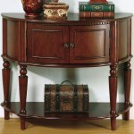 Console Table W Curved Front Inlay Shelf Miami Direct Furniture