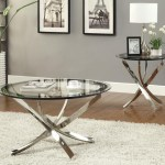 3pc Marlo Glass Top Table Set Miami Direct Furniture