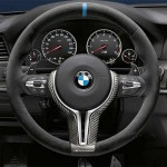 Bmw M Performance Steering Wheel Alcantara Carbon Fiber With Blue Stripe For M3 M4
