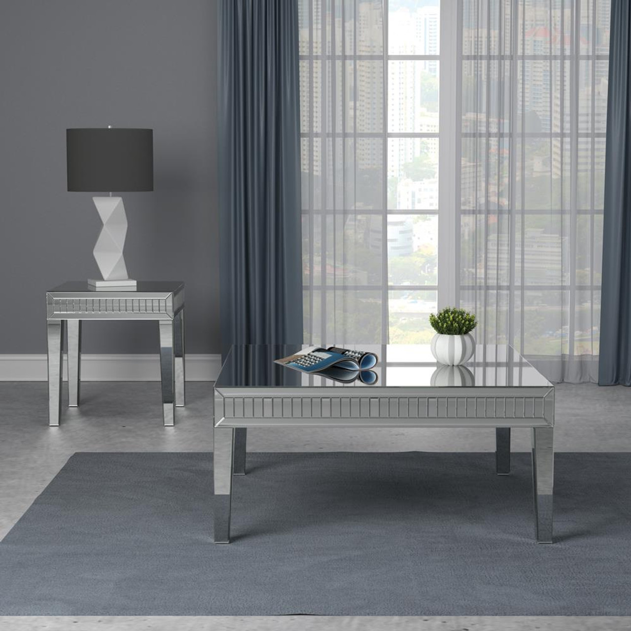 whitfield square coffee table silver 723318