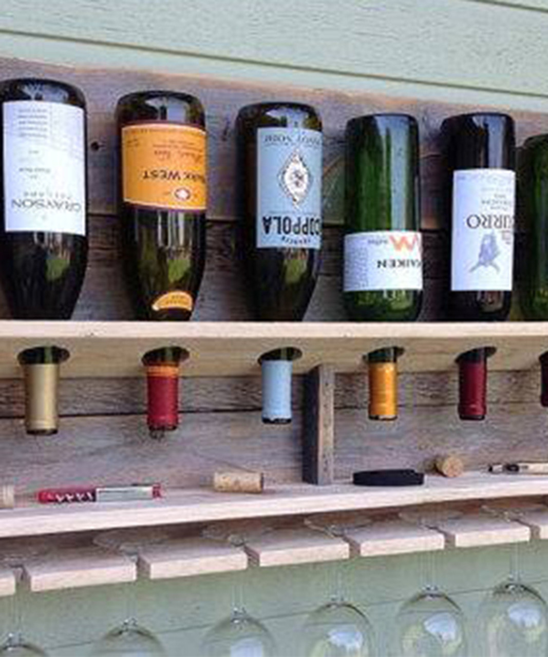 extra large distressed upside down bottle wine rack holder personalized