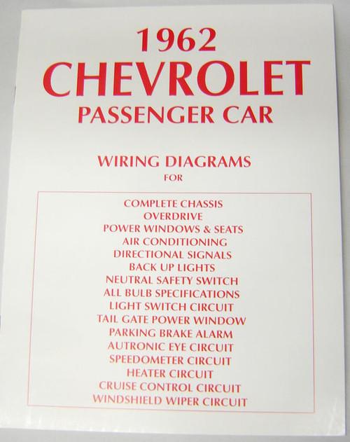 62 chevy impala electrical wiring diagram manual 1962