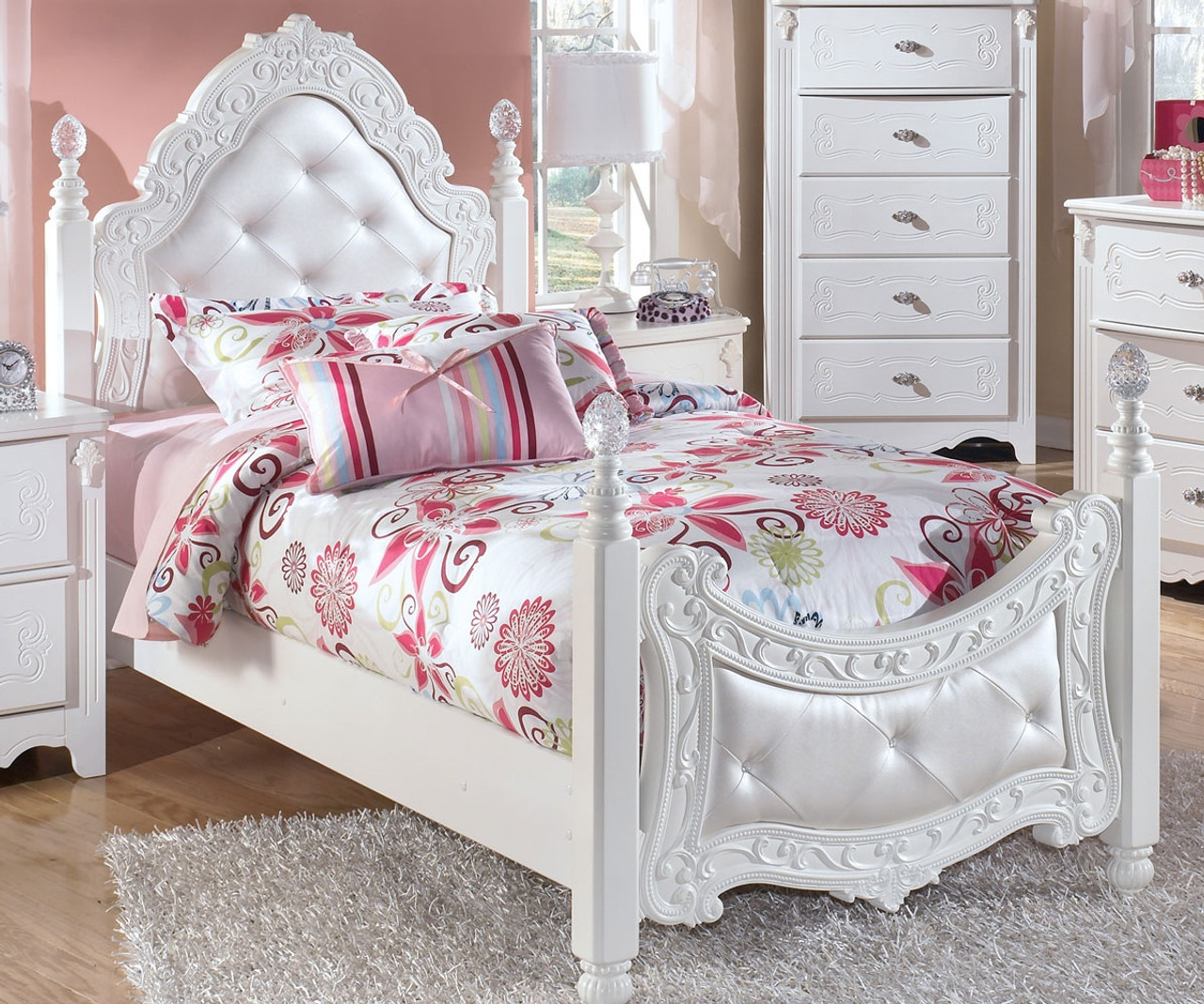 exquisite twin size poster bed