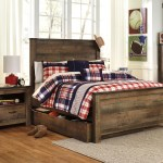 Trinell B446 Full Size Panel Bed With Trundle Ashley Kids Furniture Boys And Girls Bedroom Furniture