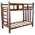 Rustic Cedar Log Bunk Beds With Built In Ladder Free Shipping