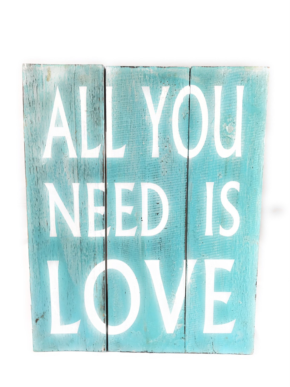 """Download """"All You Need Is Love"""" Beach Sign on Wood Planks 12"""" X 9.5 ..."""
