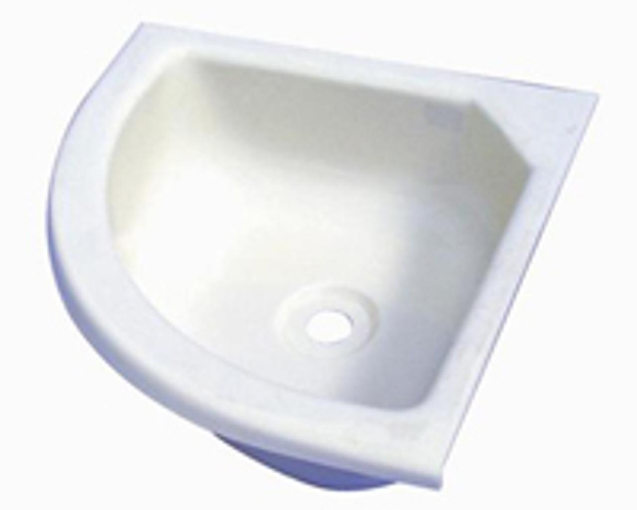 small caravan corner basin