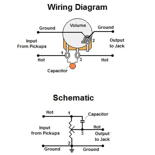 volume treble bleedbypass circuit w/ series resistor
