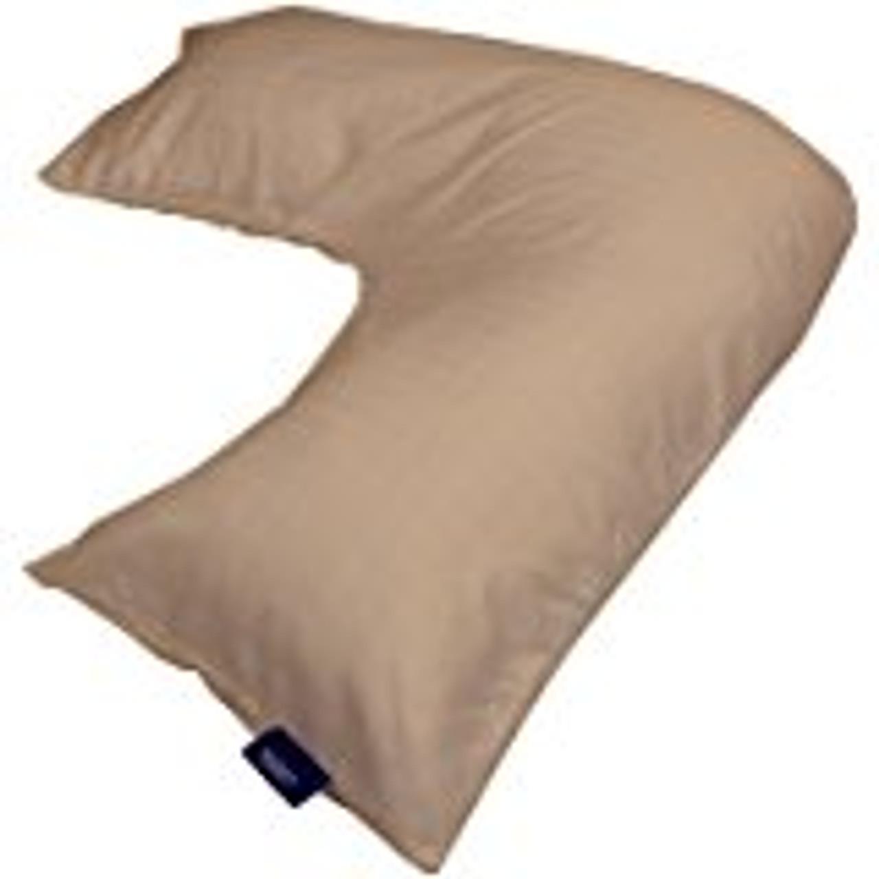 contour pillow case for l shaped body pillow