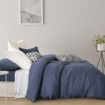 Gioia Casa Jersey Cotton Blue Marble Queen Bed Quilt Cover Set In 2 Linen