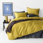 In2linen 500tc Bamboo Cotton Quilt Cover Set Mustard