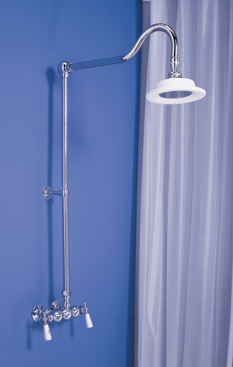 exposed shower set with 3 3 8 centers