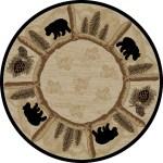 Dean Toccoa Bear Lodge Cabin Carpet Area Rug Size 5 3 Round Dean Stair Treads