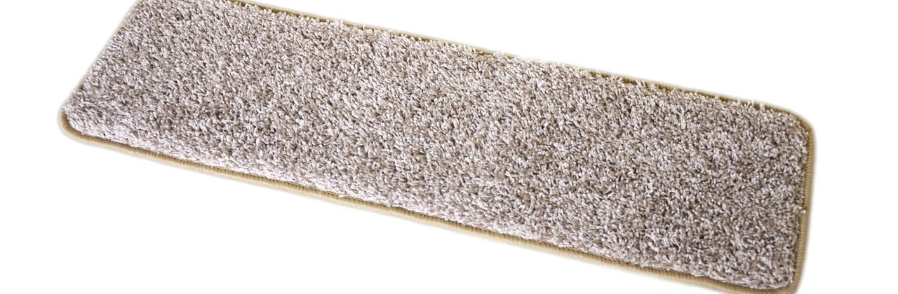 Dean Washable Non Slip Carpet Stair Treads Macadamia Beige Set | Rug Stair Treads Non Slip | Bullnose Carpet | Gloria Rug | Slip Resistant | Tread Covers | Flooring
