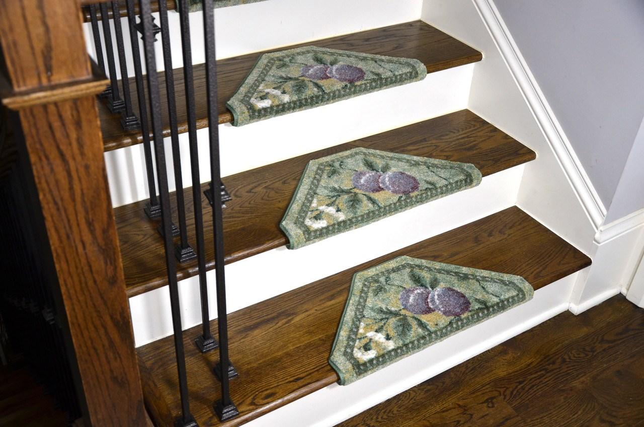 Bullnose Carpet Stair Treads | Dean Flooring Stair Treads | Fiber Sisal | Bullnose Wraparound | Stick Bullnose | Sisal Carpet | Washable Non