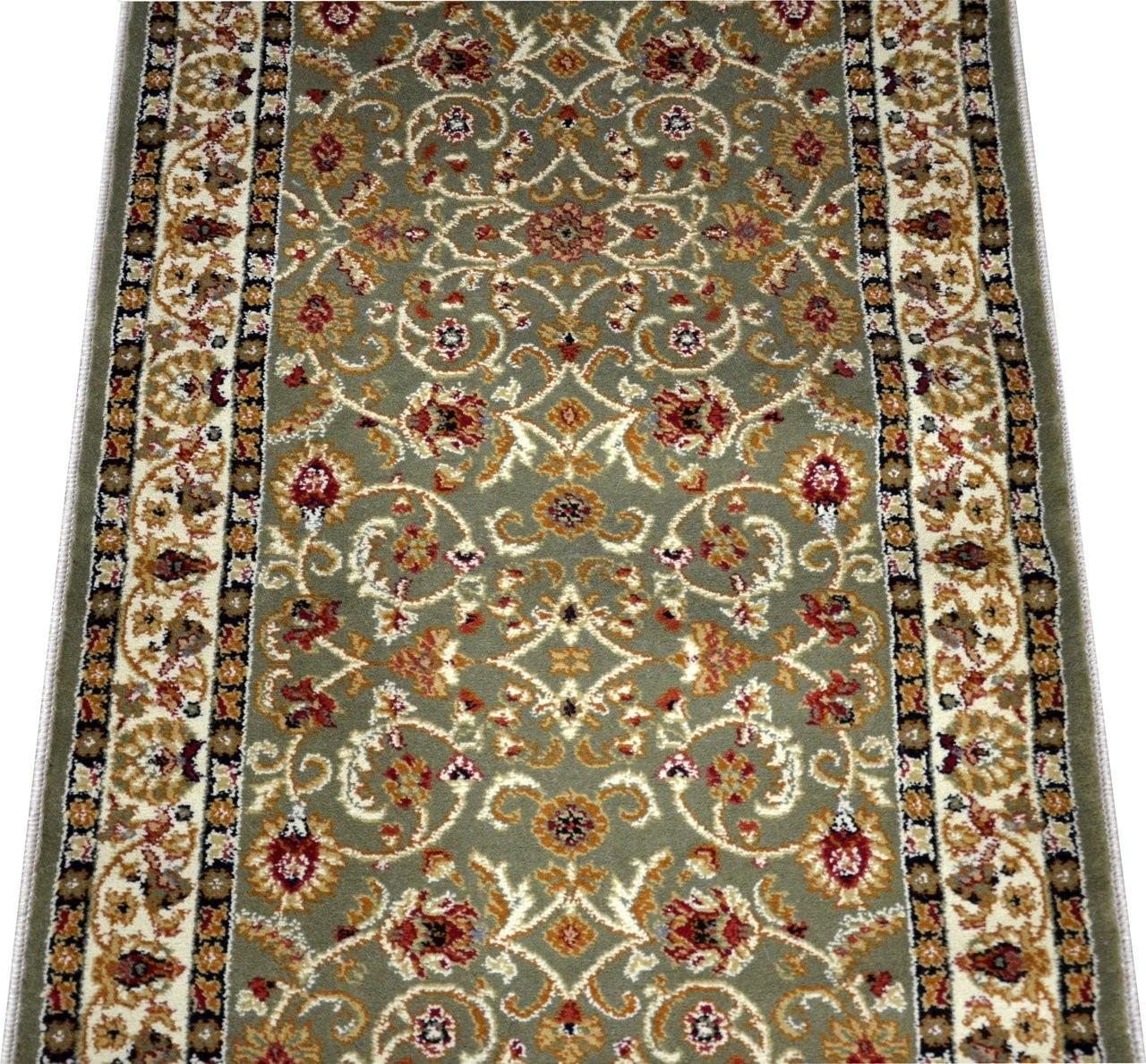 Dean Classic Keshan Sage Carpet Runner Custom Size | Wool Stair Runners By The Foot | Flooring | Runner Rugs | Sisal | Eurasia Istanbul | Karastan Stair