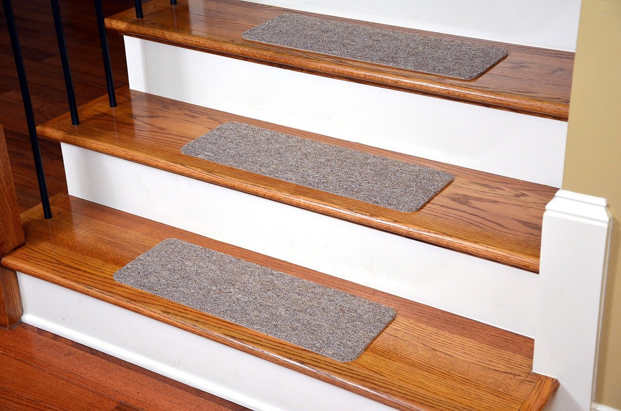 Dean Affordable American Made High Quality Non Skid Diy Peel | Stick On Stair Treads | Step | Unique | Maple Stair | Integrated Post | Solid Weathered