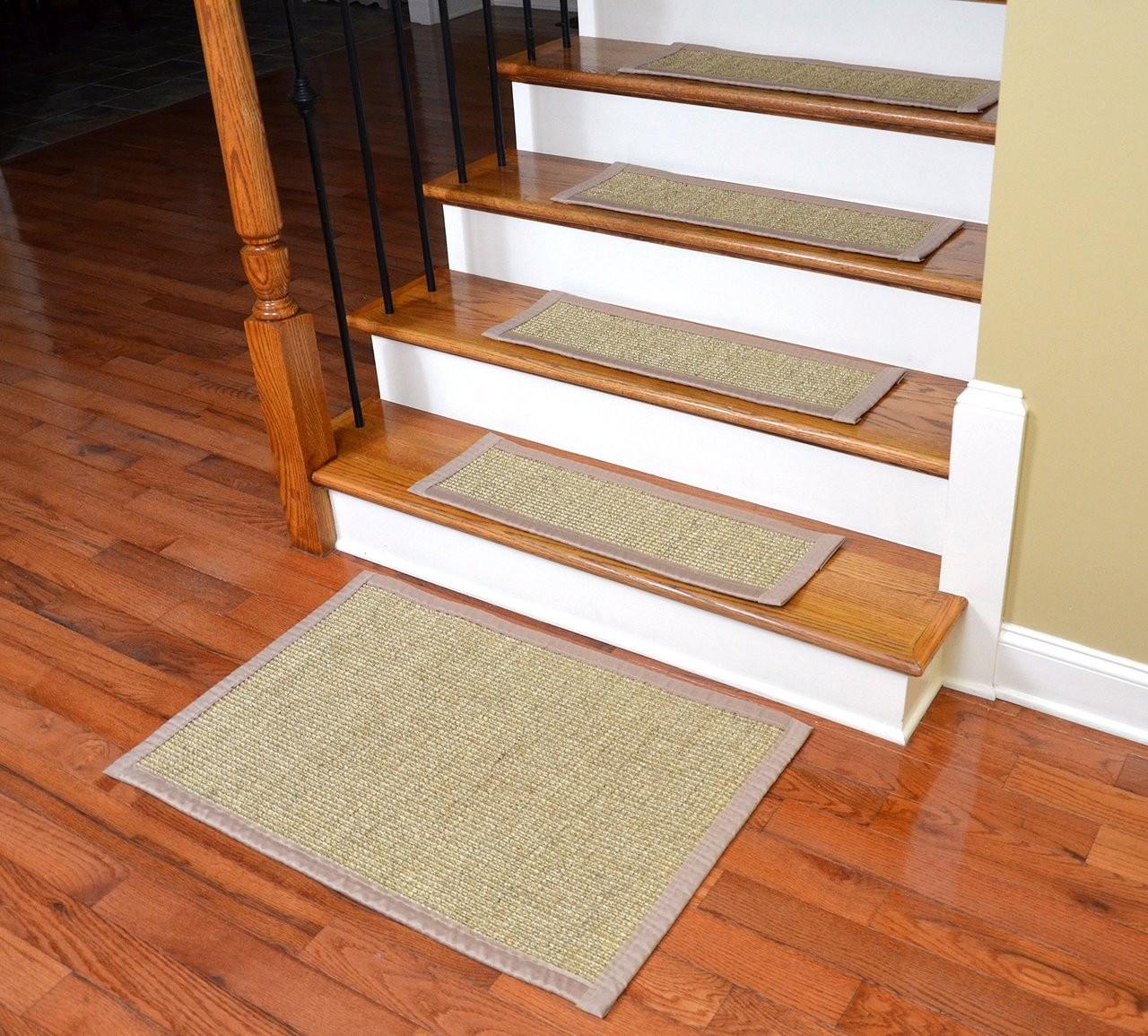 Dean Sisal Carpet Stair Treads Set Of 13 W Landing Mat   Non Slip Stair Treads For Carpeted Stairs   Walmart   Skid Resistant   Basement Stairs   Indoor Stair   Slip Resistant