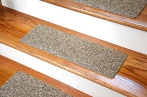 Non Skid Carpet Stair Treads Dean Flooring Company | Single Carpet Stair Treads | Stair Runner | Adhesive Padding | Wood | Sisal Stair | Non Slip