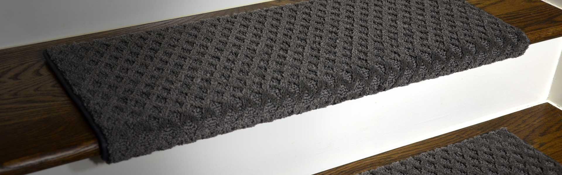 Carpet Stair Treads Runner Rugs – Dean Flooring Company | Running Carpet For Stairs | Stair Tread | Hardwood | Wood | Grey | Stair Runners