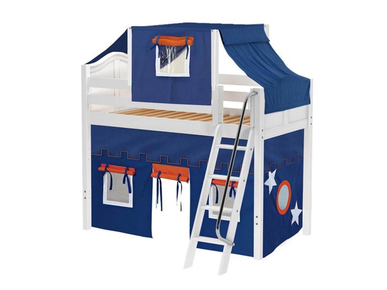maxtrix mid loft bed w angle ladder