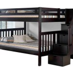 Rustic Brushed Pine Staircase Bunk Bed Full Full Espresso Bedroom Source