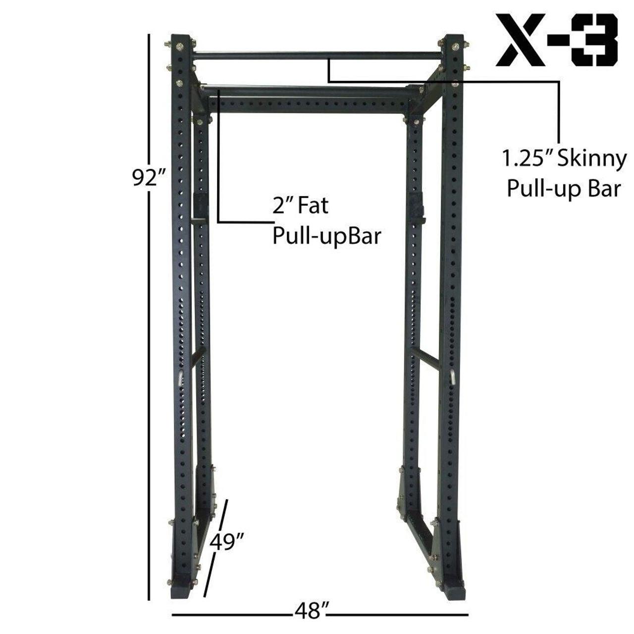 titan fitness x 3 flat foot power cage squat stand