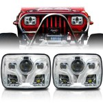 Apollo Led Chrome Projector Headlights For Xj And Yj Jpfederation