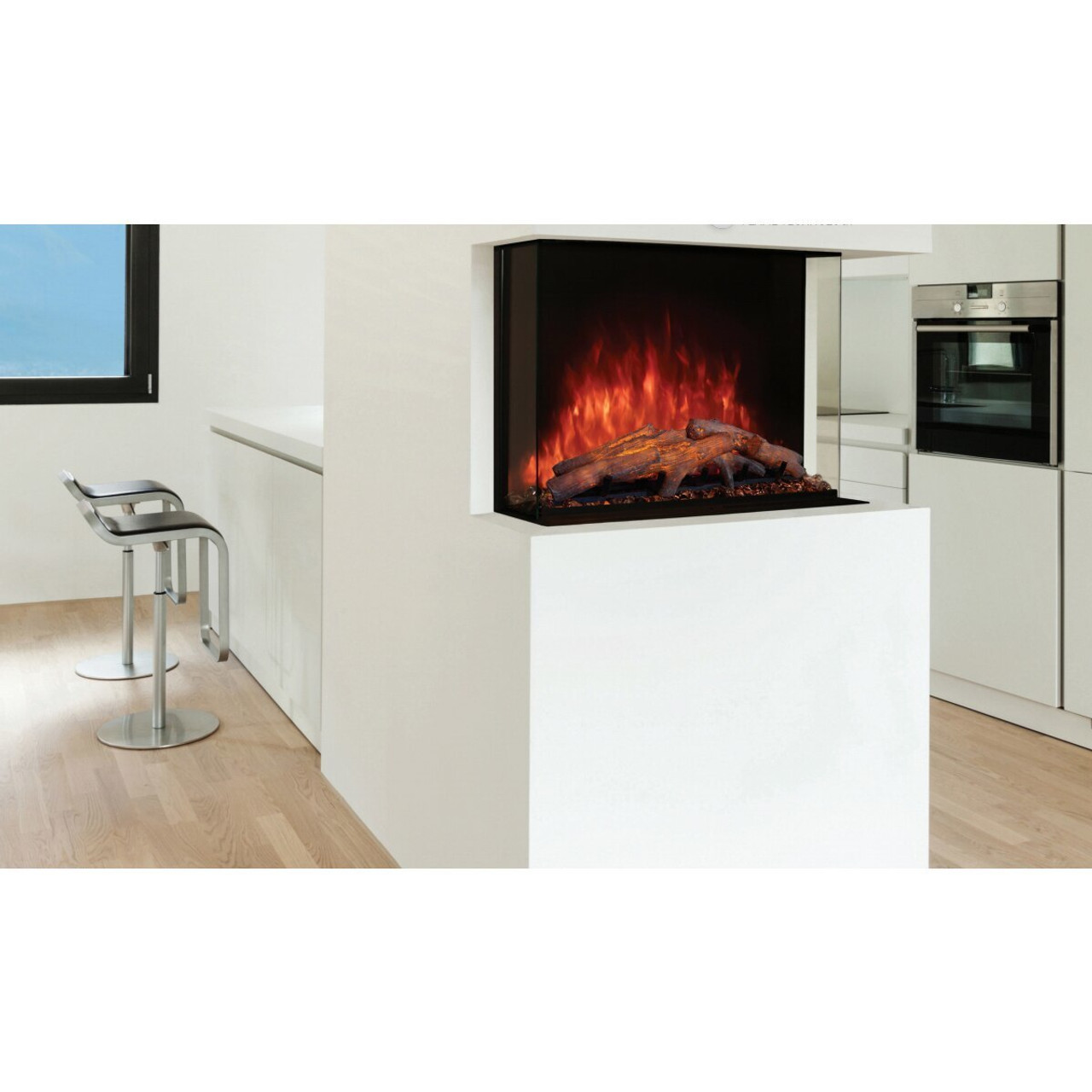sedona pro multi built in electric fireplace 42 modern flames