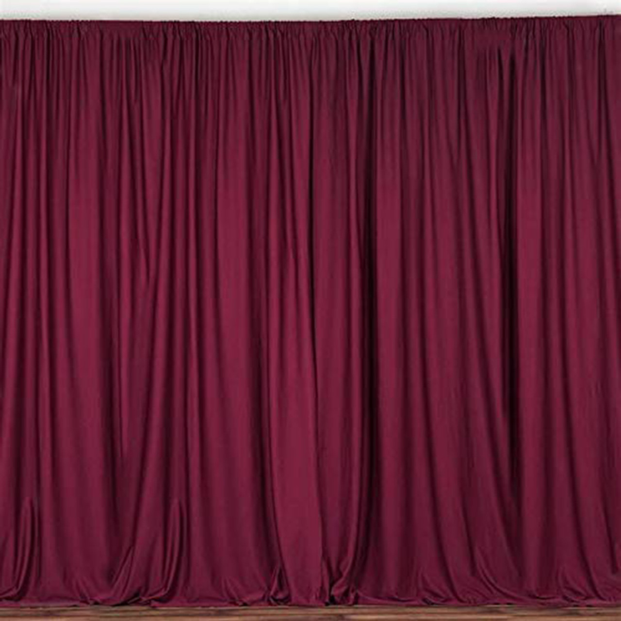 2 pack 10 feet polyester backdrop drapes curtains panels with rod pockets wedding ceremony party home window decorations burgundy