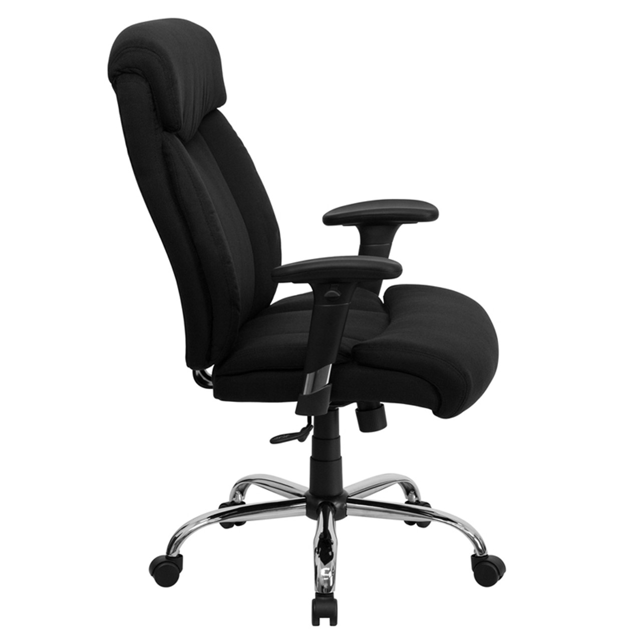 Big Tall 350 Lb Capacity Big Tall Black Fabric Office Chair With Arms Ff 0301 14 Color4office