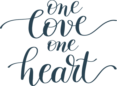 Download One Love One Heart SVG Cut File - Snap Click Supply Co.