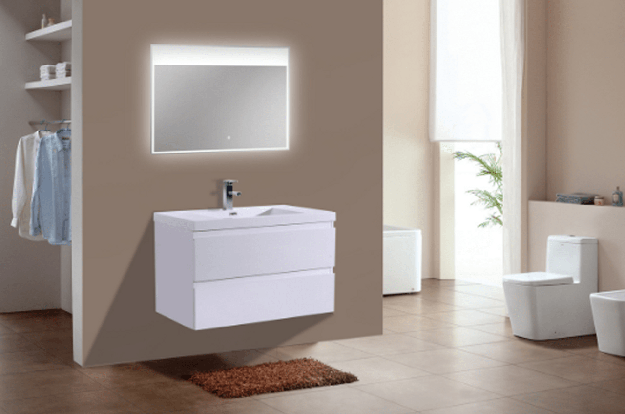 moreno mob 36 high gloss white wall mounted modern bathroom vanity with reeinforced acrylic sink