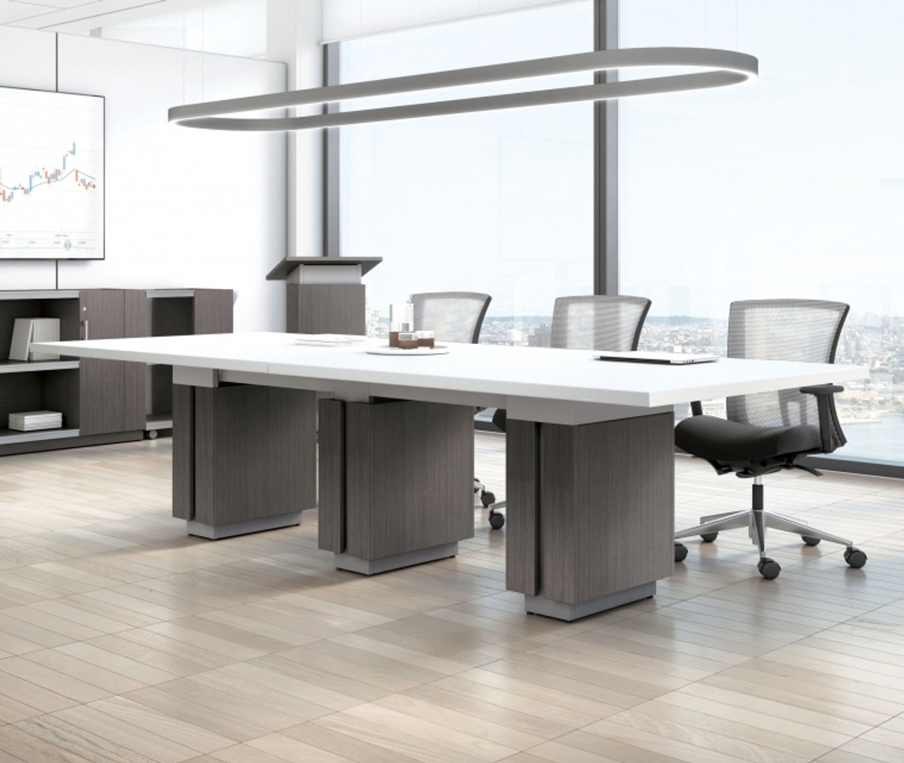 Global Zira 10 X 4 Two Tone Rectangular Conference Table