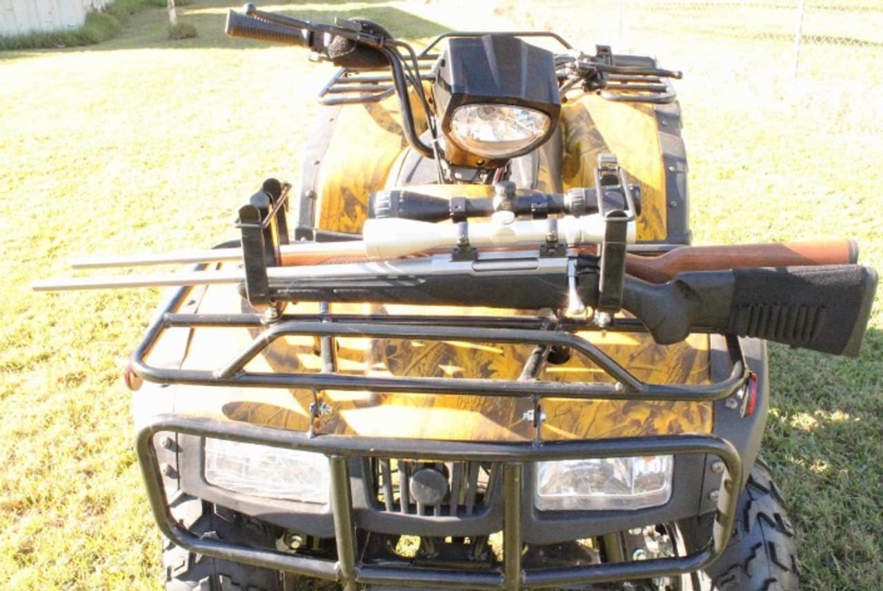 http www aushunteronline com au firearm storage vehicle gun racks double atv gun rack