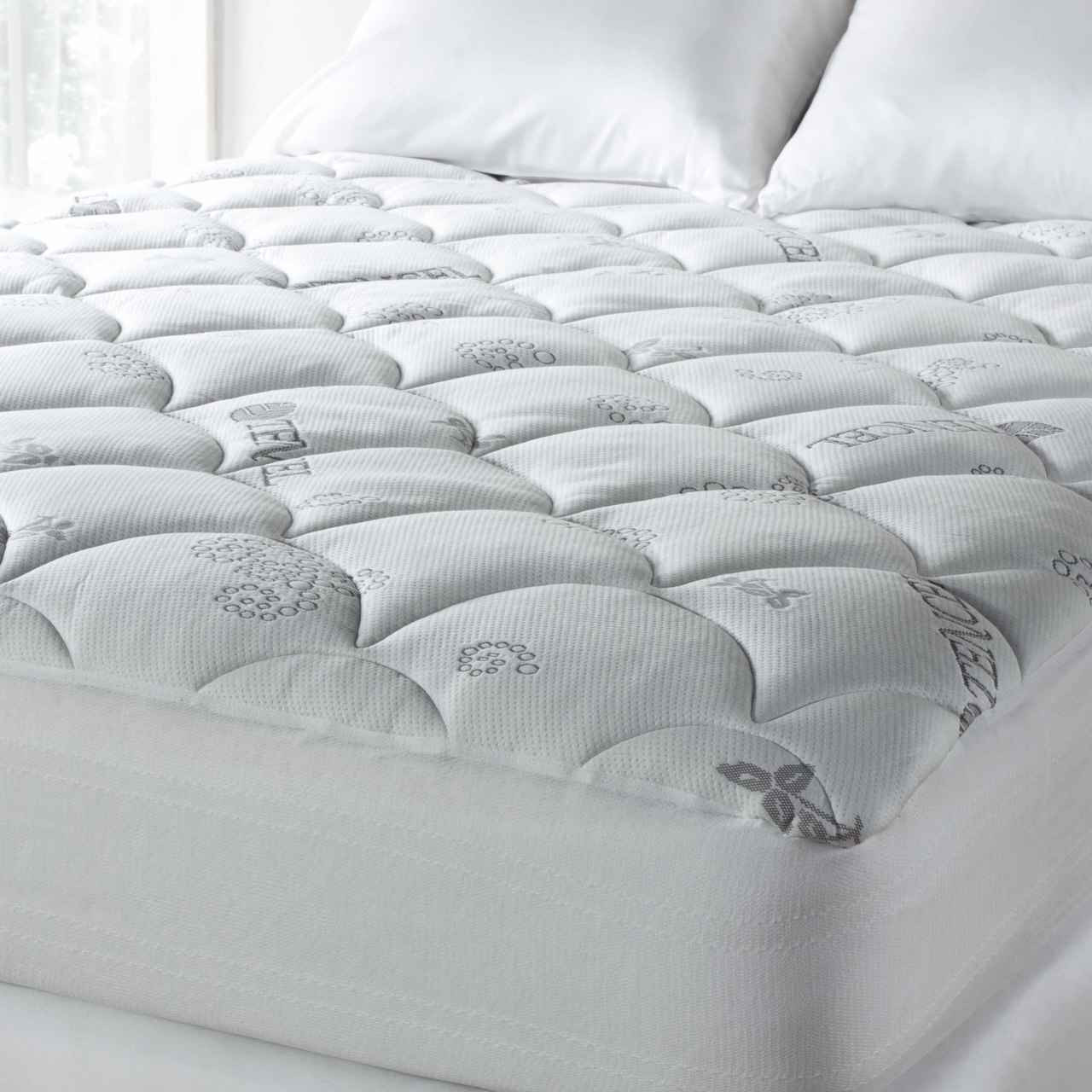 spa luxe super plush tencel blend cool touch plush mattress pad